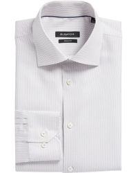 Bugatchi - Trim Fit Geometric Dress Shirt - Lyst