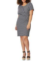 REBEL WILSON X ANGELS - Twist Stripe Dress - Lyst