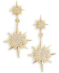 Vince Camuto - Crystal Starburst Drop Earrings - Lyst