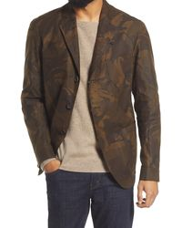 Oliver Spencer Solms Ormond Camo Water Repellent Cotton Jacket - Brown