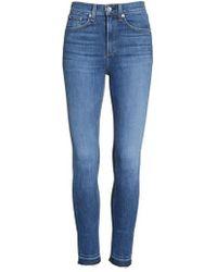 Rag & Bone - High Waist Ankle Skinny Jeans - Lyst