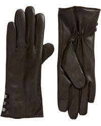Lauren by Ralph Lauren - Lauren Leather Touchscreen Gloves - Lyst