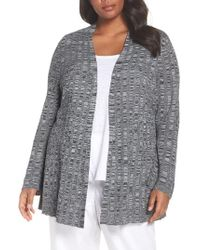 Eileen Fisher - Simple Bell Sleeve Cardigan - Lyst