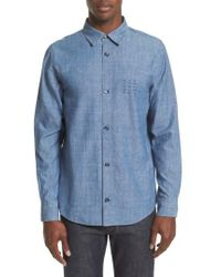 A.P.C. - Chambray Chemise Shirt - Lyst