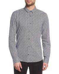 HUGO - Ero Allover Print Slim Fit Sport Shirt - Lyst