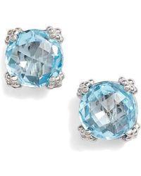 Anzie - Cluster Topaz Stud Earrings - Lyst