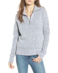 Love By Design - Quarter Zip Sweater - Lyst