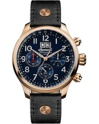 INGERSOLL WATCHES Ingersoll Delta Chronograph Leather Strap Watch - Blue