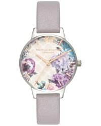 Olivia Burton - Glasshouse Leather Strap Watch - Lyst
