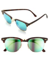 Ray-Ban | 'flash Clubmaster' 51mm Sunglasses | Lyst