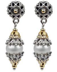 Konstantino | Classics Dangle Drop Pearl Earrings | Lyst