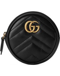 Gucci - Marmont 2.0 Leather Coin Purse With Key Ring - Lyst