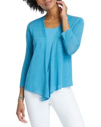 NIC+ZOE - '4-way' Convertible Three-quarter Sleeve Cardigan - Lyst