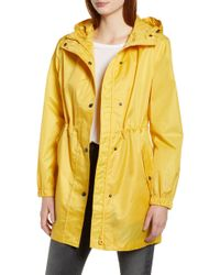 Joules - Right As Rain Packable Hooded Raincoat, Yellow - Lyst