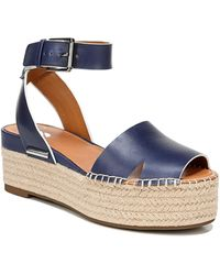 Sarto Lexie Platform Espadrille Sandal - Blue
