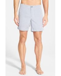Boto - 'aruba - Stripe' Tailored Fit 6.5 Inch Board Shorts - Lyst