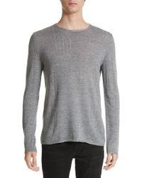 John Varvatos | John Varvatos Crewneck Sweater | Lyst