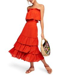 Free People - Endless Summer By Sea Breeze Strapless Crop Top & Midi Skirt - Lyst