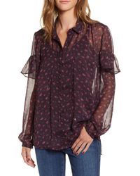 French Connection - Floral Ruffle Top - Lyst