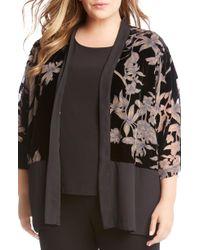 Karen Kane - Burnout Velvet Kimono Jacket - Lyst