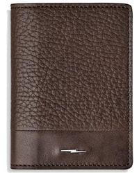 Shinola Bold Card Case - Brown