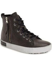Blackstone - KI57 Leather High-Top Sneakers - Lyst