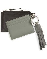 AllSaints - Dive Keyfob Lambskin Leather Zip Pouch & Card Case - Lyst