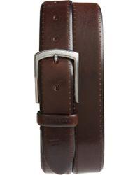 Ted Baker - Burnished Brogue Leather Belt - Lyst