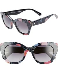 cb257a4f1d03 Kate Spade Jalena Leopard-print Gradient Cat-eye Sunglasses in Black ...