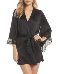 Samantha Chang - Yukata Lace & Silk Robe - Lyst