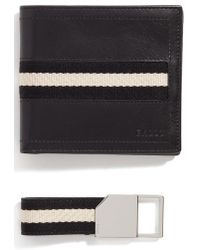 Bally - Leather Wallet And Belt Gift Set - Lyst
