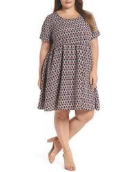 Glamorous | Lipstick Print Fit & Flare Dress | Lyst
