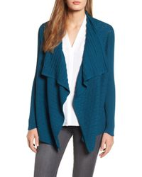 Chaus - Mixed Knit Cotton Cardigan - Lyst