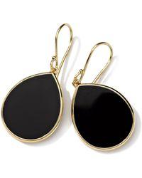 Ippolita 'rock Candy - Mini Teardrop' 18k Gold Earrings - Metallic