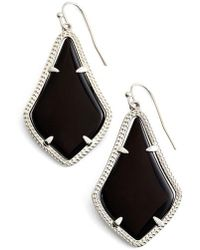 Kendra Scott Alex Drop Earrings - Black