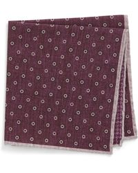 Eleventy - Medallion Wool & Cotton Pocket Square - Lyst