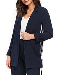 Wallis Athleisure Double Stripe Jacket - Blue