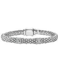 Lagos - 'signature Caviar' Diamond Rope Bracelet (online Only) - Lyst
