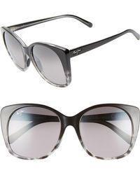 Maui Jim - Mele 55mm Polarizedplus2 Round Cat Eye Sunglasses - Lyst
