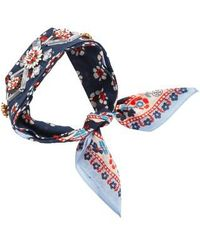 Tory Burch | Embellished Floral Square Scarf | Lyst