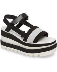 Stella McCartney - Stripe Platform Sandal - Lyst