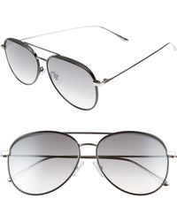 7ac1271a283 Lyst - Jimmy Choo Lexie Aviator Sunglasses in Metallic