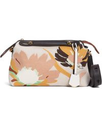 Fendi Medium By The Way Embroidered Canvas Satchel - Multicolor