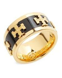 Tory Burch - Enamel Logo Ring - Lyst