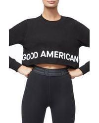 GOOD AMERICAN - Crop Sweatshirt - Lyst