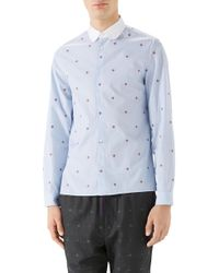 Gucci - Bee Fil Coupe Sport Shirt - Lyst