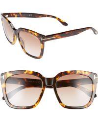 0c6fdb7277e1 Tom Ford - Amarra 55mm Gradient Lens Square Sunglasses - - Lyst