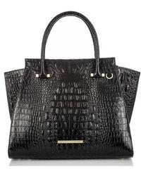 Brahmin - 'priscilla' Croc Embossed Leather Satchel - Lyst