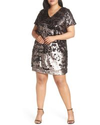 1.STATE - Sequin Shift Dress - Lyst