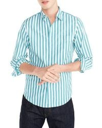J.Crew | J.crew Slim Fit Stretch Secret Wash Stripe Sport Shirt | Lyst